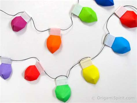 How To Make Origami Lights - origami origami lights as