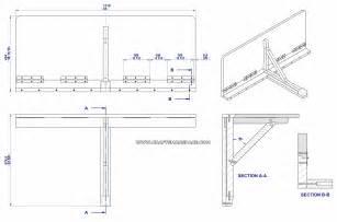 Wall mounted drop leaf folding table plan