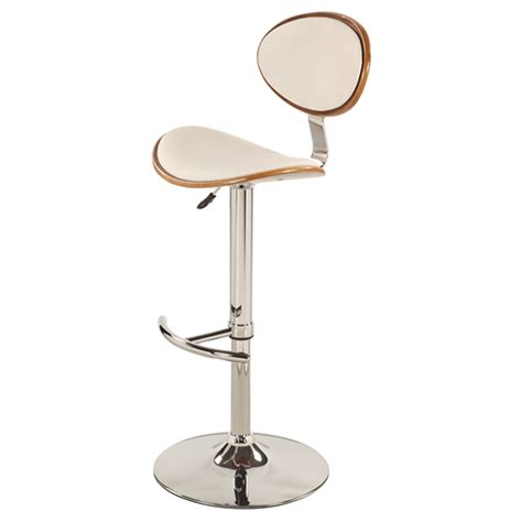 Bar Stool Swivel Base by Swivel Bar Stool White Chrome Base Adjustable Height