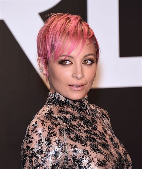 pinks new haircut 2015 nicole richie short pink hair