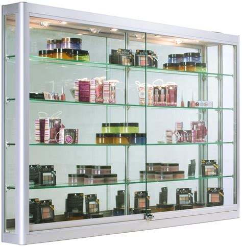 wall mounted glass display cabinet wall mounted display cabinet with led lights 5 feet wide