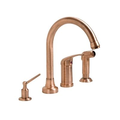 Best Brand Kitchen Faucet by Fontaine Nf Khi4 Ac High Arc Antique Copper One Handle