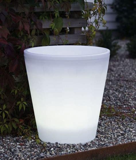 small illuminated planter pot