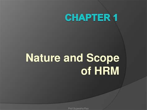 Scope Of Mba In Design Management by Nature And Scope Of Hrm