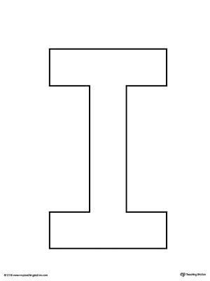 uppercase letter i template printable myteachingstation