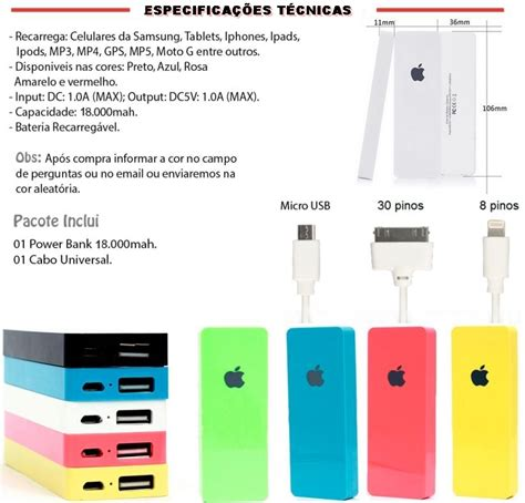 Power Bank Samsung 98 000mah carregador port 225 til power bank 18 000mah apple iphone