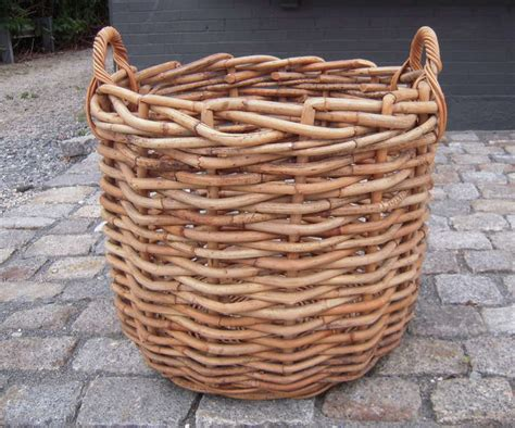 firewood basket home pinterest firewood baskets and large bamboo basket for firewood or a plant at 1stdibs