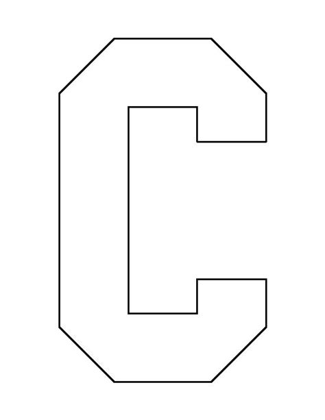 free use template letter c pattern use the printable outline for crafts