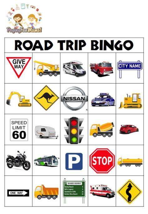 printable road trip bingo road trip survival guide 10 road trip games for kids