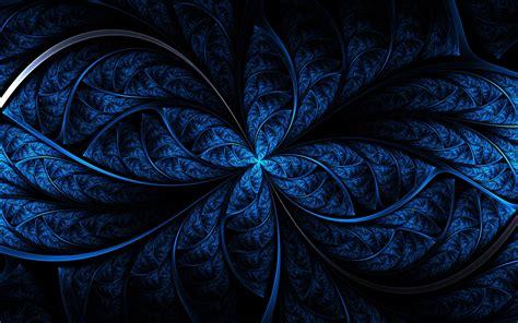 wallpaper biru gelap wallpaper gelap karya seni simetri biru pola