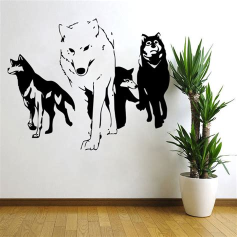 wall sticker vinyl 2016 new wolf wall decal vinyl wall sticker predator