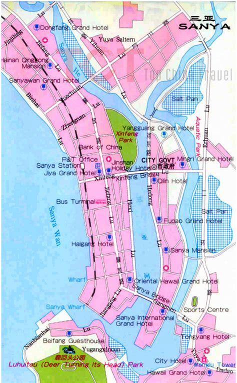 sanya maps map  sanya china sanya tourist mapssanya