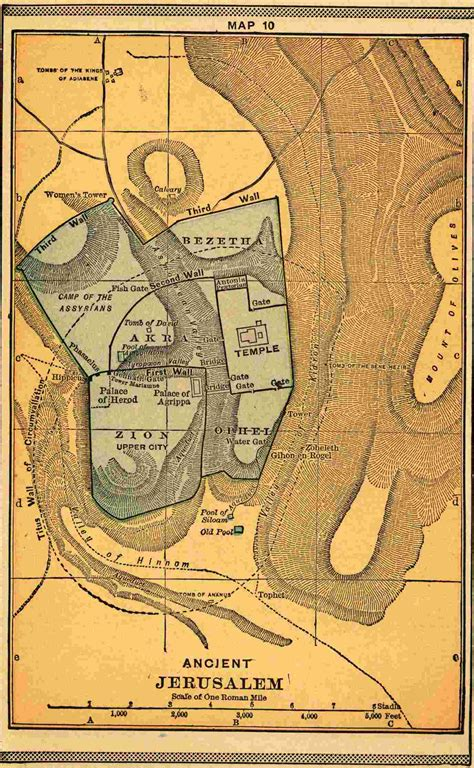 ancient map of jerusalem arch city maps on maps city maps and