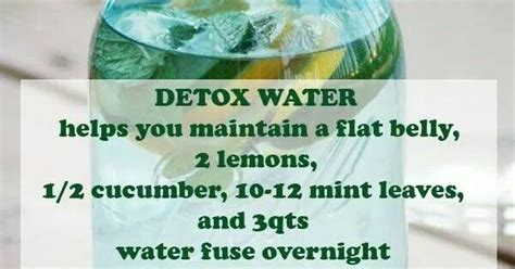 Detox Water For Flat Belly Without Mint Leaves by Detox Water Helps You Maintain A Flat Belly 2 Lemons 1 2
