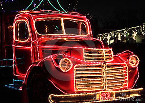 trucks decorated for christmas vintage truck decorated lights stock photos image 22651383
