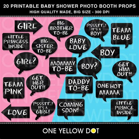 printable photo booth props for baby shower instant download baby shower party photo booth props