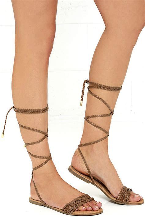 Lace Up Flat Sandals camel sandals flat sandals lace up sandals 18 00