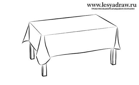 tische zeichnen wie den tisch vom bleistift etappenweise zu zeichnen