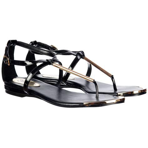 black and gold flat sandals onlineshoe toe post gladiator flat sandal gold bar and