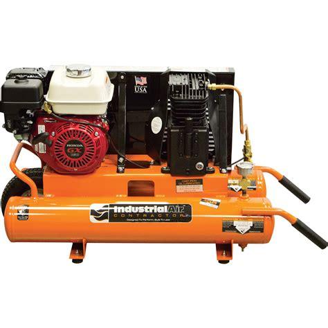 industrial air gas powered wheelbarrow air compressor 5 5 hp honda engine 8 gallon model