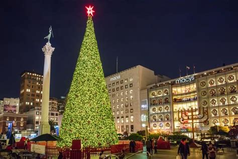 event lighting san francisco tree lighting for the holidays live performances