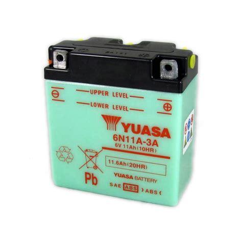 Motorrad Batterie 6v by Yuasa Motorcycle Battery 6n11a 3a 6v 11ah From County