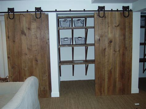 barn closet doors custom barn door closet by reclaimed wood furnishings