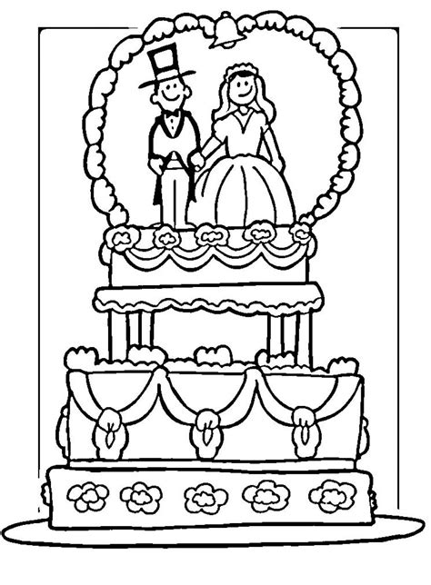 wedding coloring pages 4 coloringpagehub