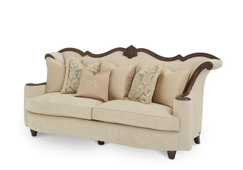 michael amini sofas michael amini victoria palace upholstery wood trim sofa by