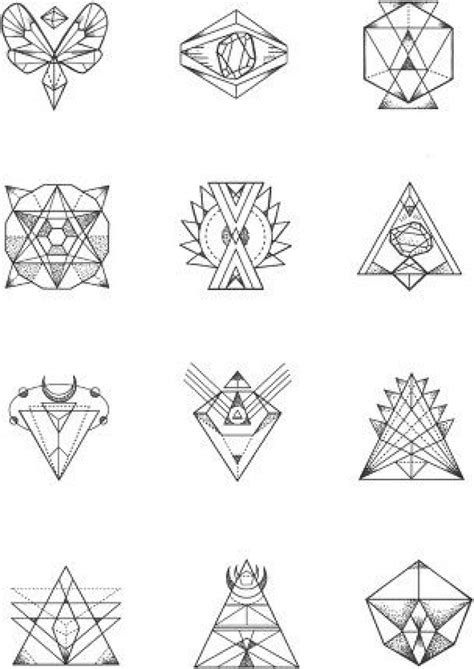 small tattoo stencils 1000 ideas about geometric tattoos on