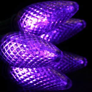 purple c9 led christmas light bulbs
