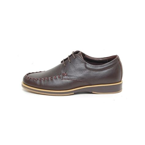 s wrinkle u line stitch lace up leather shoes