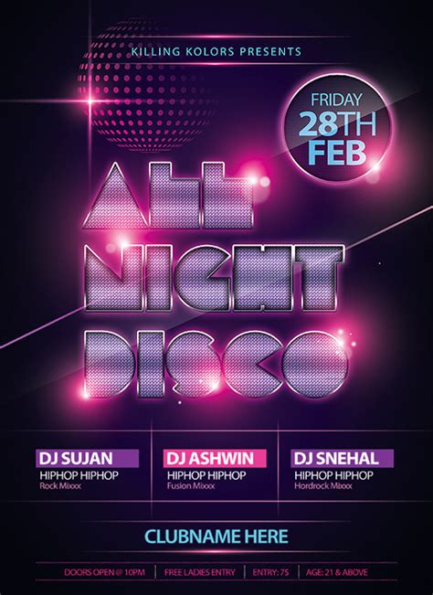 template flyer disco party all night disco party flyer by mantushetty on deviantart