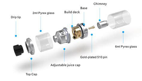 New Replacement Glass For Diablo Rta Rdta Vape Vapor Tank Rda Rba kylin rta by vandyvape