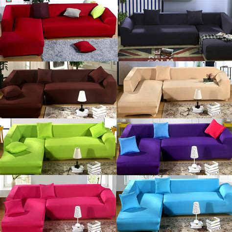 Cover For L Shaped by 2017 L Shape Stretch Elastic Fabric Sofa Cover