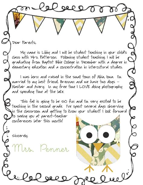 letters to parents for the entire year parents school and teacher