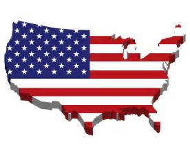 clipart america map flag