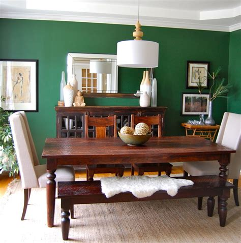 Houzz Green Dining Room Emerald Green Dining Room