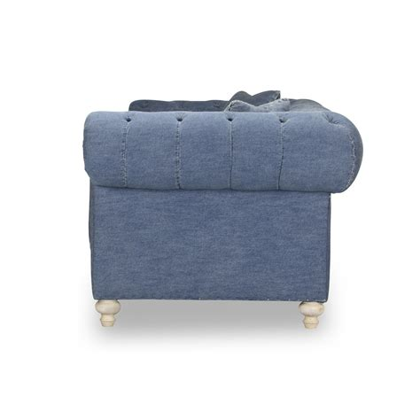 denim fabric sofa greenwich tufted blue denim fabric blue denim sofa sleeper