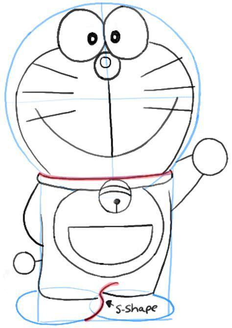 tutorial menggambar doraemon langkah menggambar doraemon part 1 rahasia internet