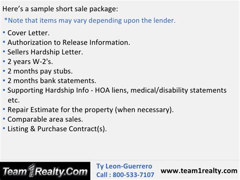 Hardship Letter To Hoa sale process and package by ty guerrero danville ca