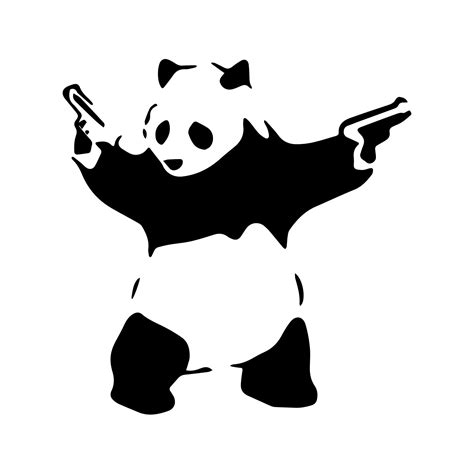 Mario Wall Stickers Uk 3d model of banksy s stencil panda with guns horizon lab