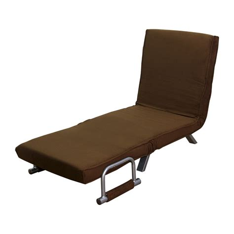 convertible chair bed homcom 26 quot convertible single sleeper chair bed brown