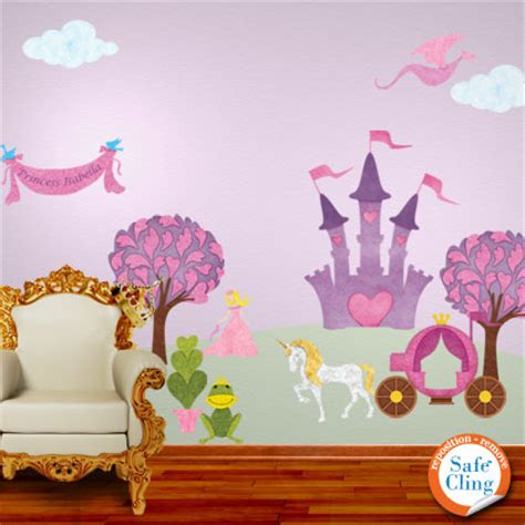 princess wall stickers personalized princess wall decals for room now