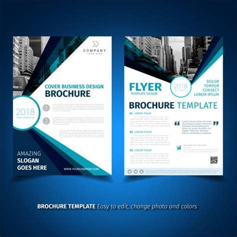 Business Brochure Flyer Design Template Download Free Vector Art Stock Graphics Images Business Catalogue Design Templates
