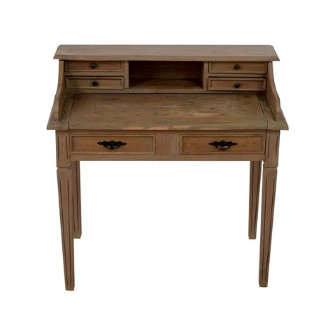livingston small desk brown wash small wood desk
