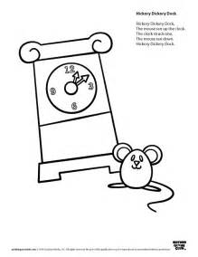 free coloring pages of hickory dickory dock