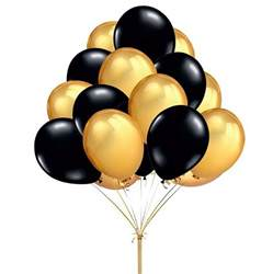 Balloon Decoration For Birthday At Home Popular Black And Gold Balloons Decorations Buy Cheap