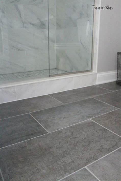 Floor Bathroom by Best 25 Gray Tile Floors Ideas On White