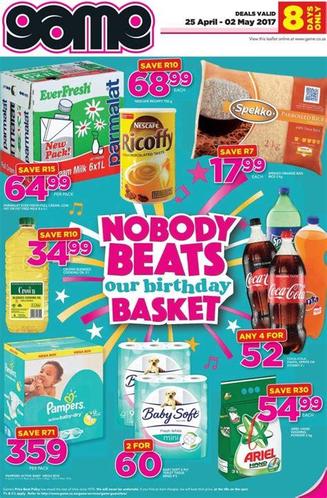 game groceries specials  apr
